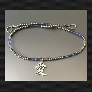 Jewelry - Grey Pearl and Tanzanite Beaded Necklace w/Pendant